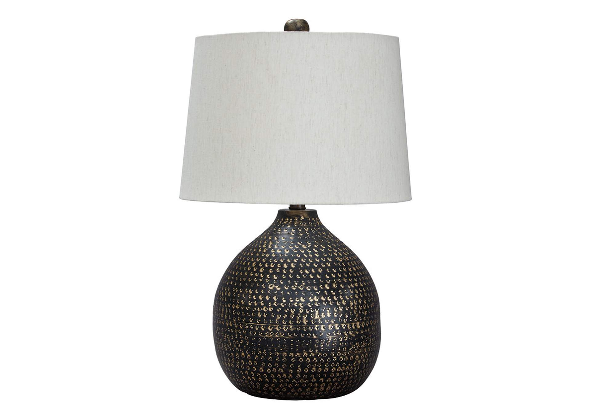 Maire Black/Gold Finish Metal Table Lamp,Direct To Consumer Express