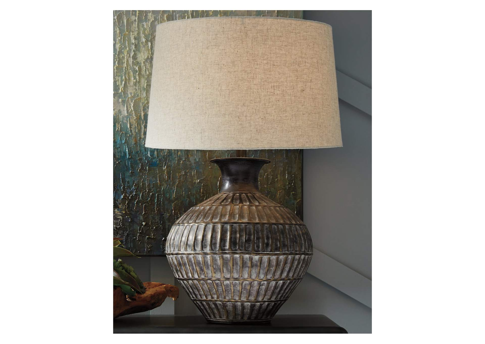 Magan Bronze Table Lamp,Signature Design By Ashley