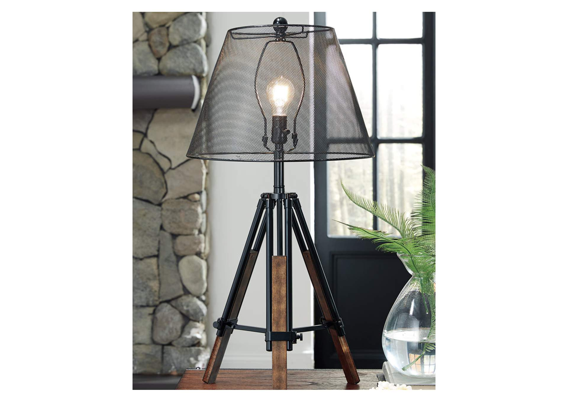 Leolyn Black/Brown Metal Table Lamp,Direct To Consumer Express