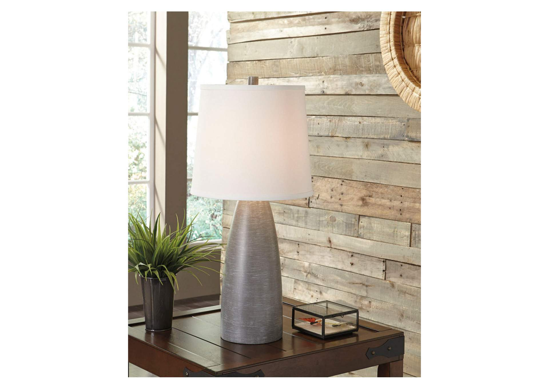 Shavontae Gray Poly Table Lamp (Set of 2),Signature Design By Ashley