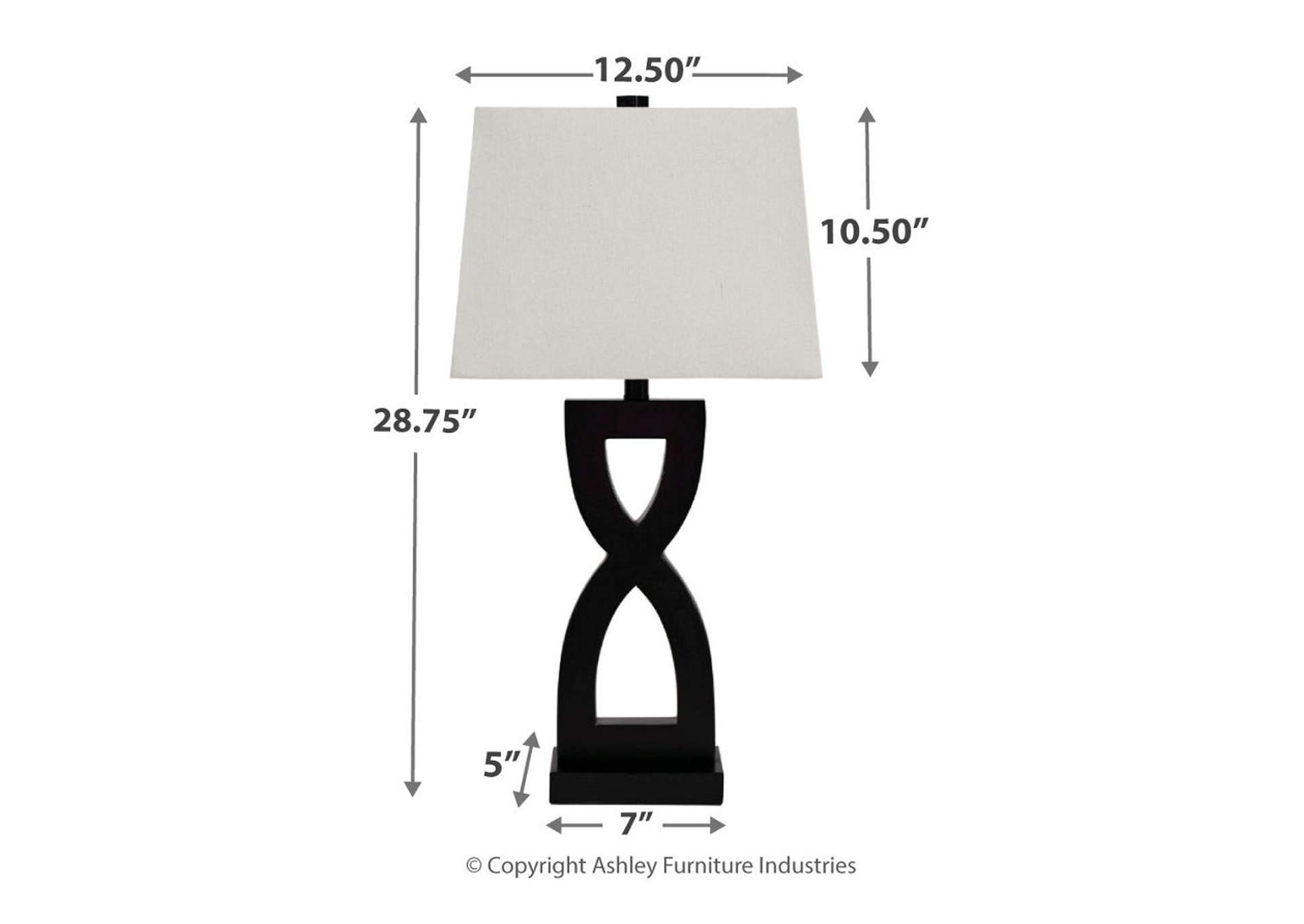 Amasai Black Poly Table Lamp (Set of 2),Direct To Consumer Express