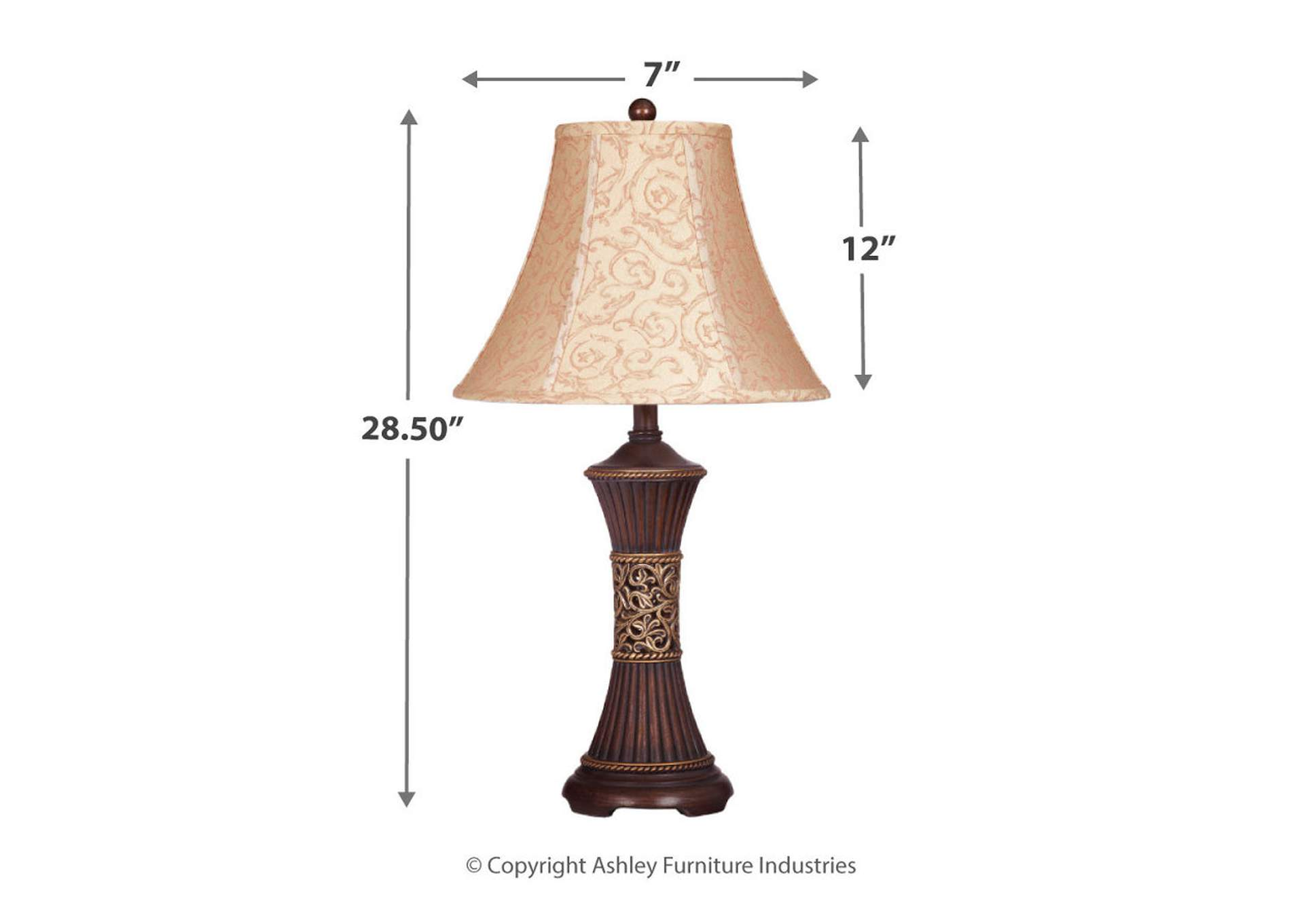 Bronze Mariana Resin Table Lamp (Set of 2),Direct To Consumer Express