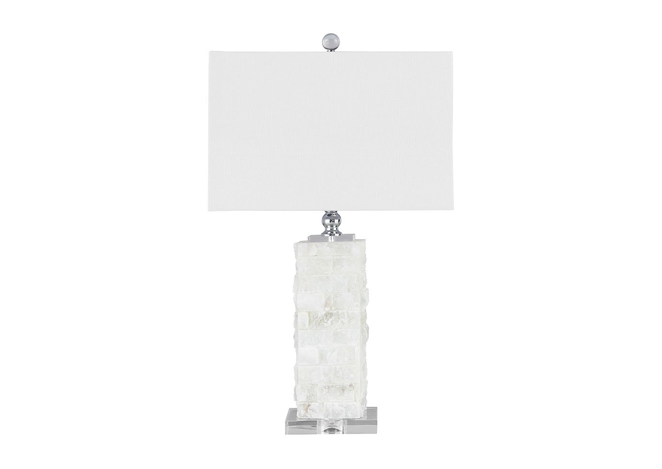 Malise White Alabaster Table Lamp,Signature Design By Ashley