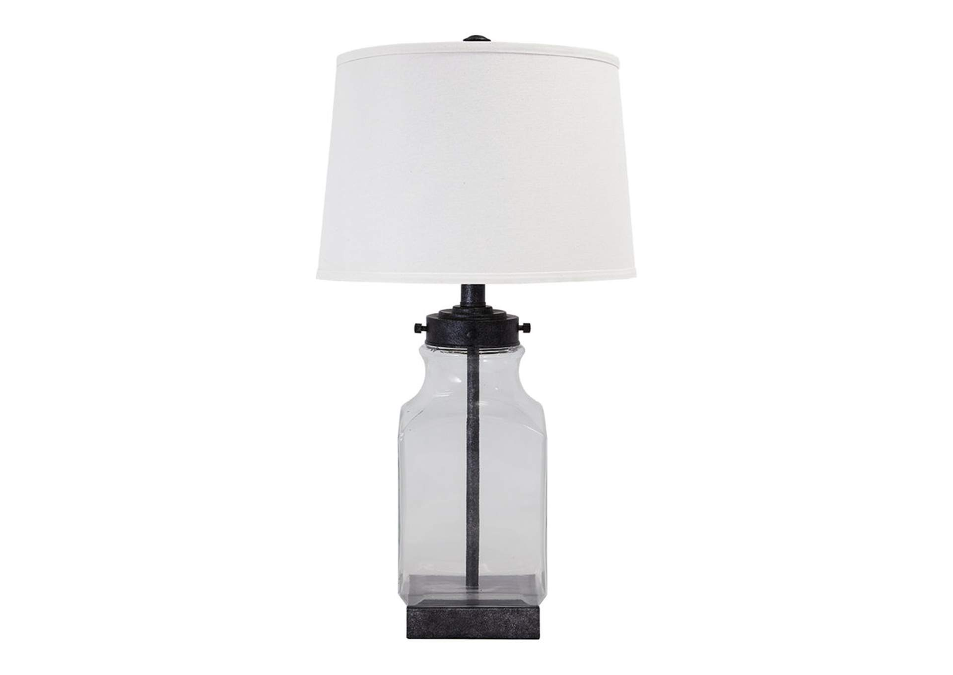 Transparent & Silver Finish Glass Table Lamp,Direct To Consumer Express