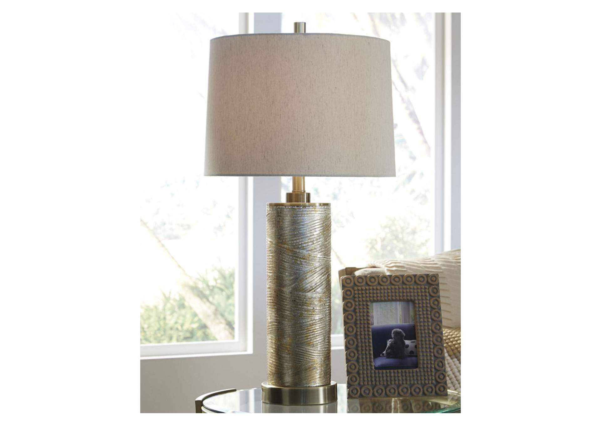 Farrar Gold Finish Glass Table Lamp,Direct To Consumer Express