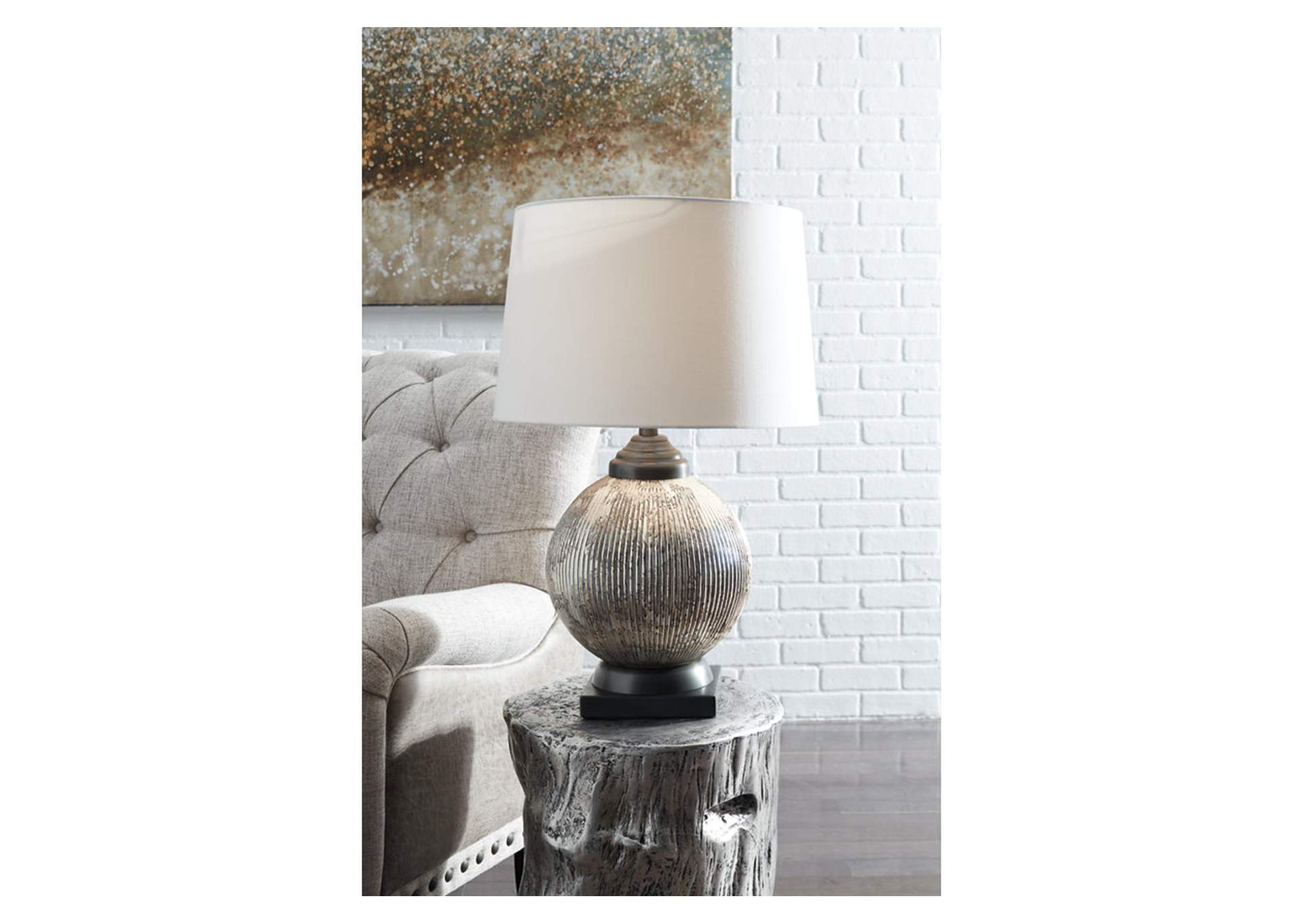 Cailan Silver/Bronze Table Lamp,Signature Design By Ashley