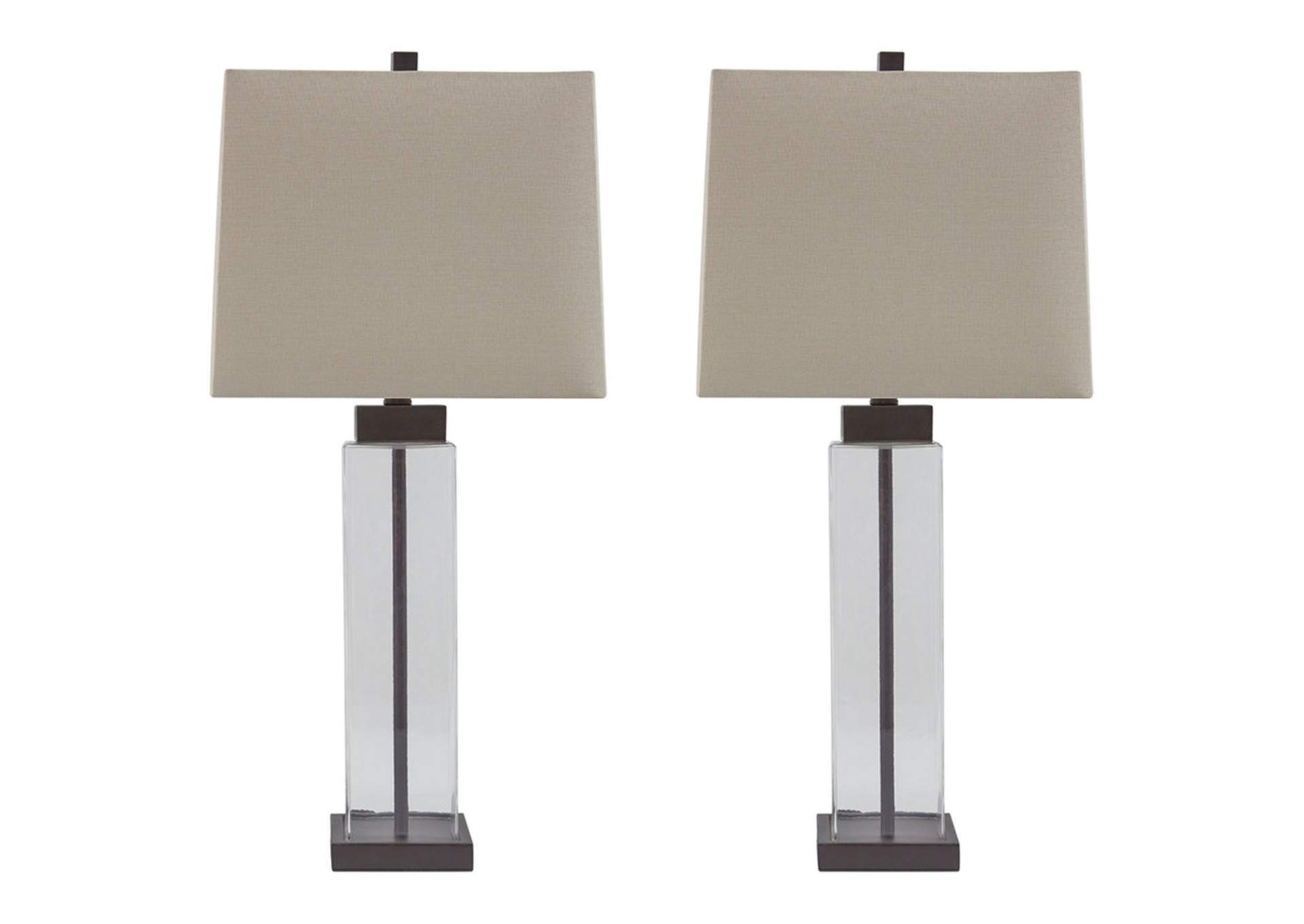 Alvaro Clear/Bronze Glass Table Lamp (Set of 2),Direct To Consumer Express