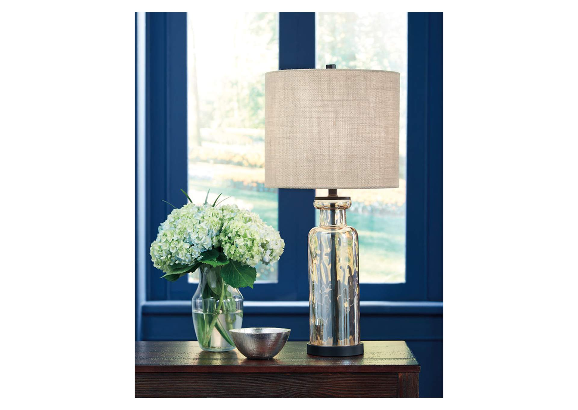 Laurentia Champagne Glass Table Lamp,Signature Design By Ashley