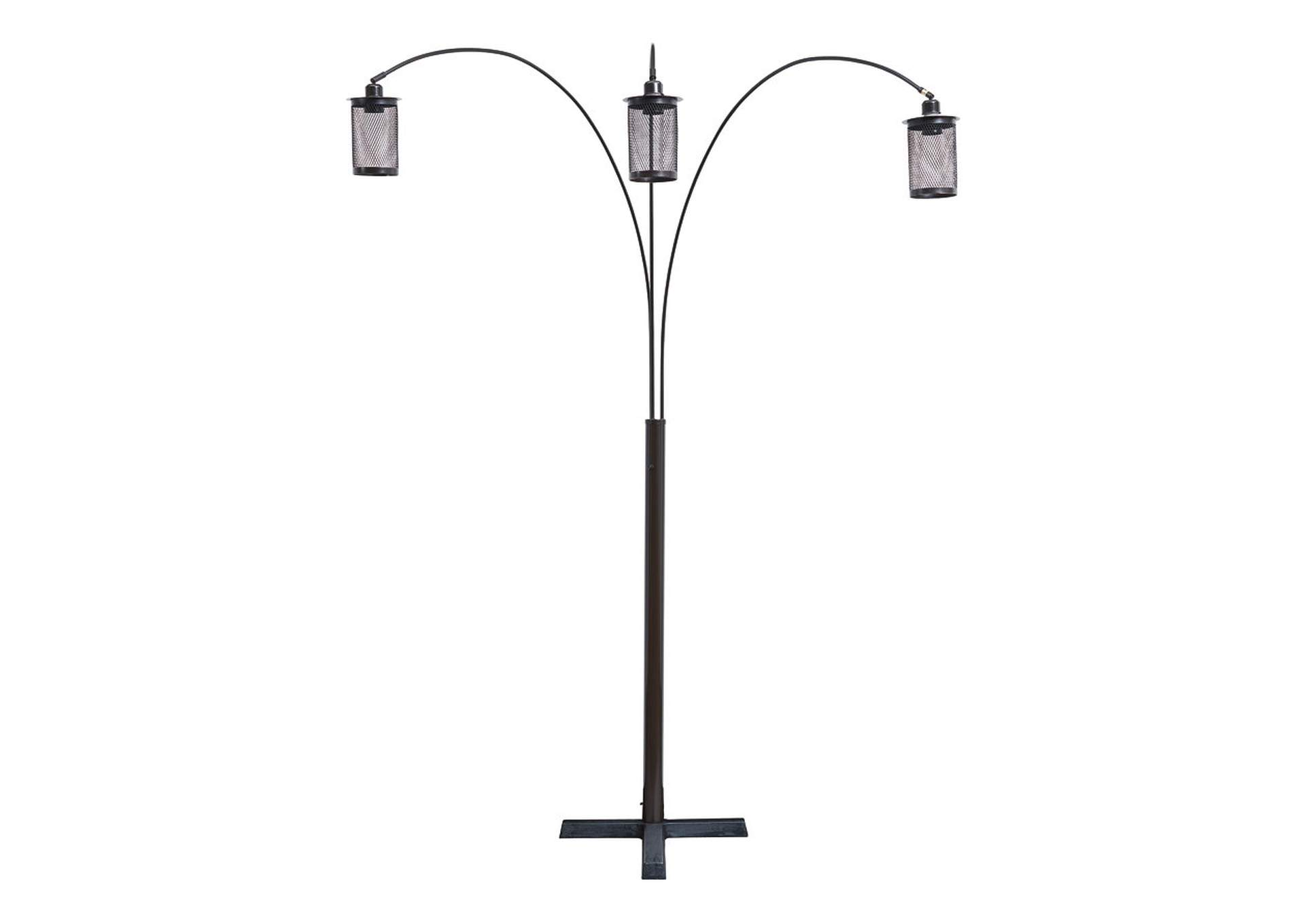 Maovesa Bronze Arc Floor Lamp,Signature Design By Ashley