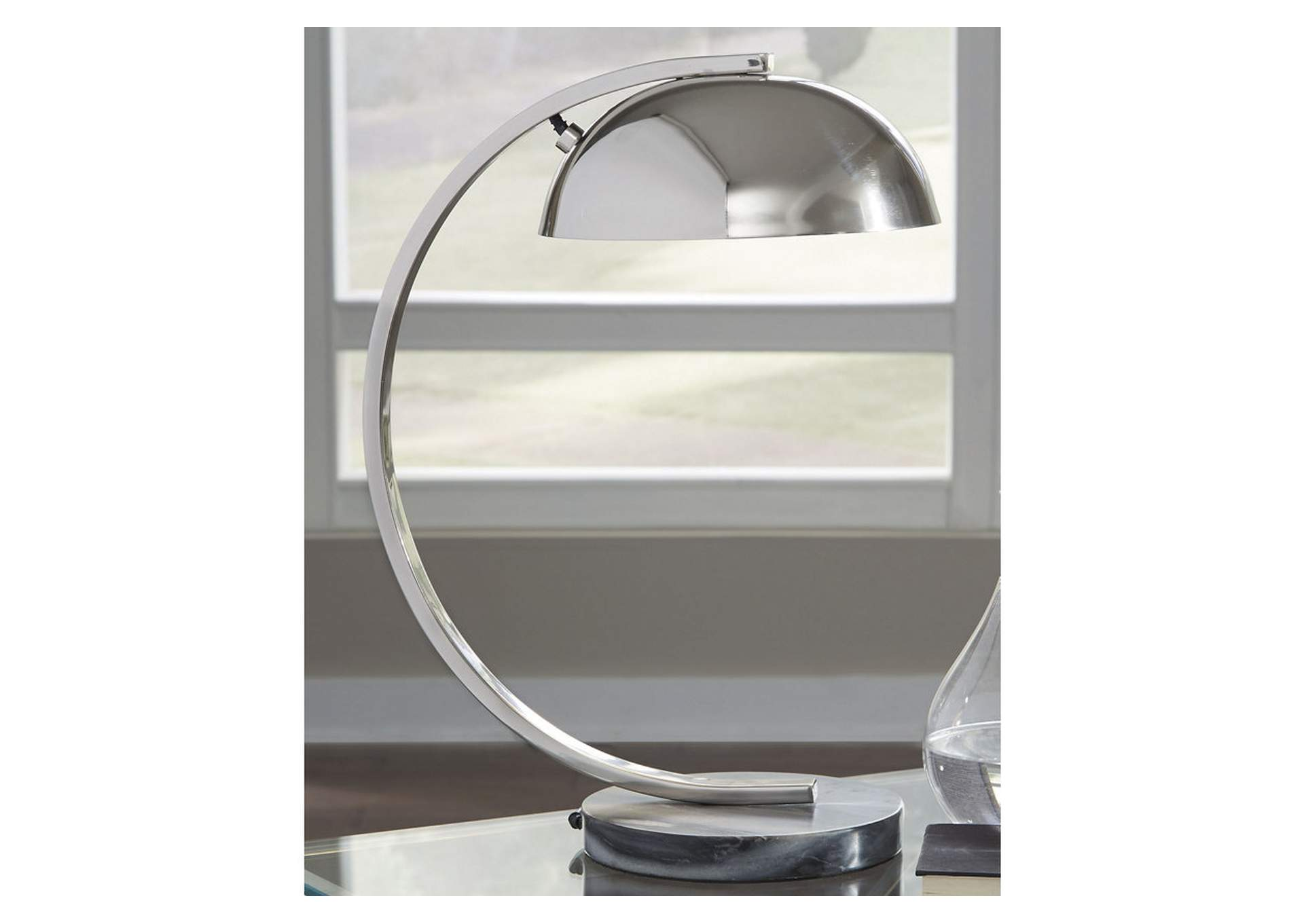 Haden Chrome Finish Metal Desk Lamp (1/CN),Signature Design By Ashley