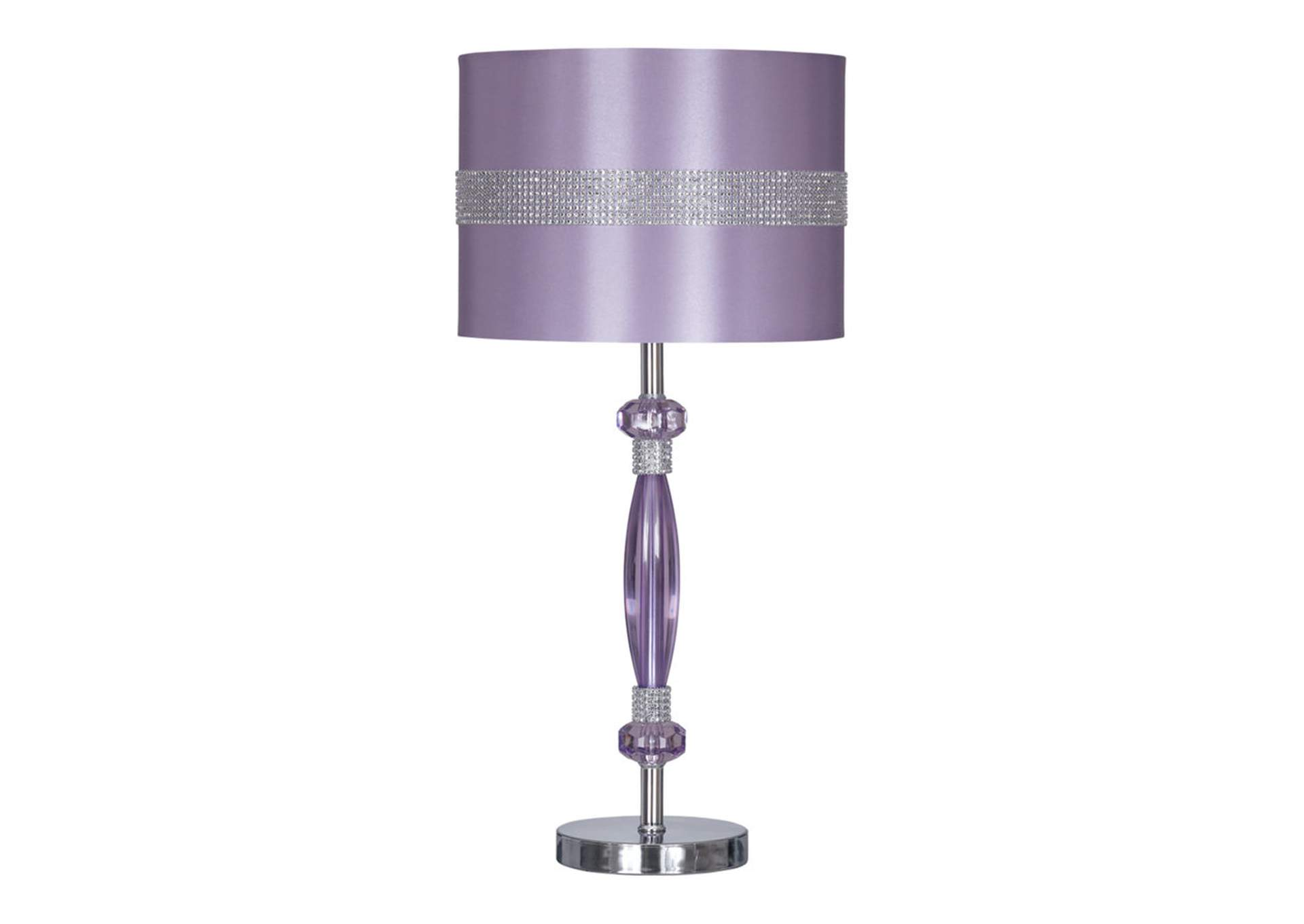 Purple Nyssa Metal Table Lamp,Direct To Consumer Express