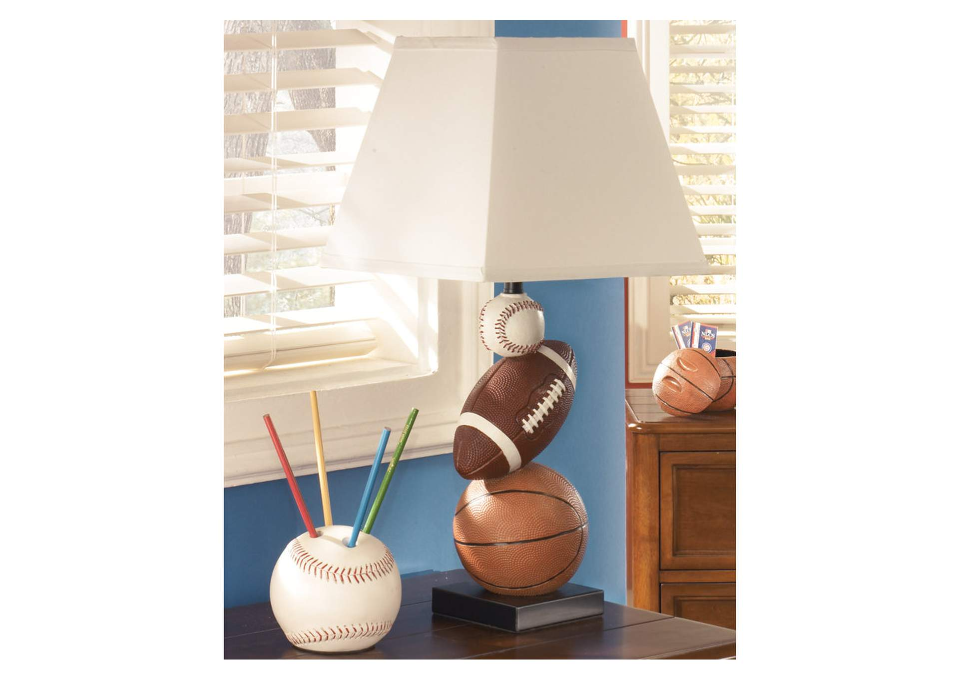 Brown/Orange Nyx Poly Table Lamp,Direct To Consumer Express