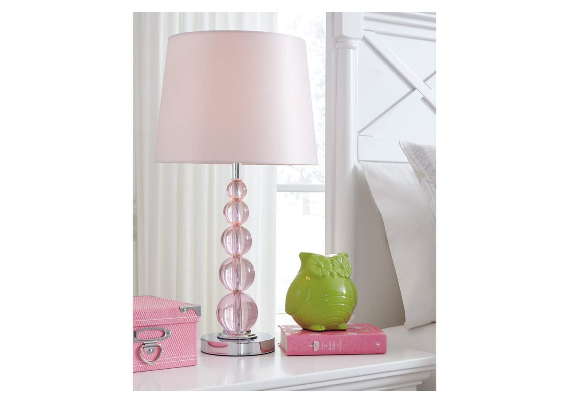 Letty Pink Crystal Table Lamp,Direct To Consumer Express