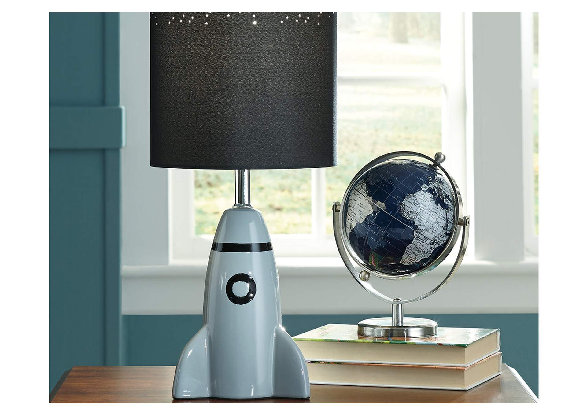 Cale Gray/Black Ceramic Table Lamp,Direct To Consumer Express
