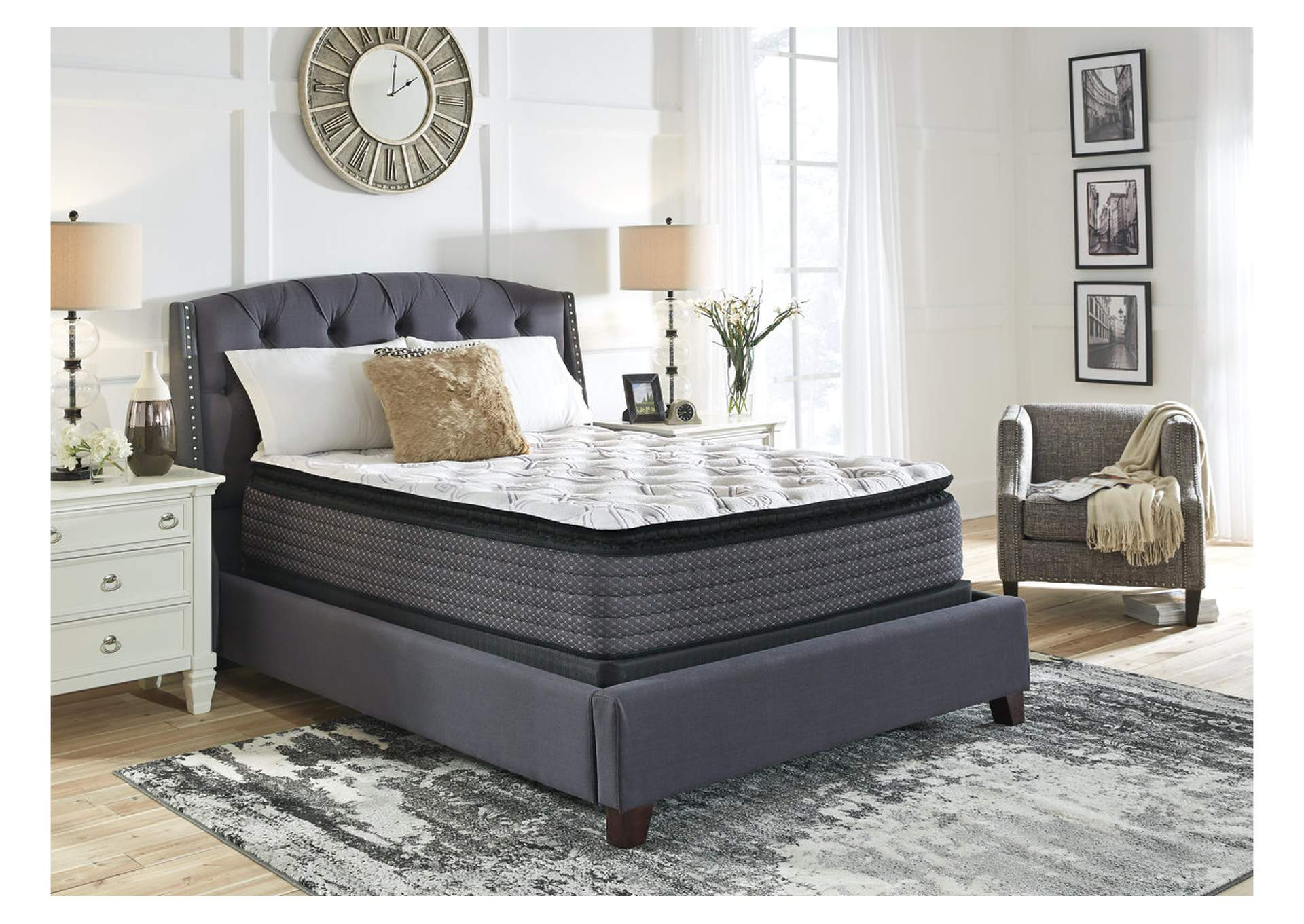 Limited Edition Pillowtop Queen Mattress w/Foundation,Sierra Sleep by Ashley