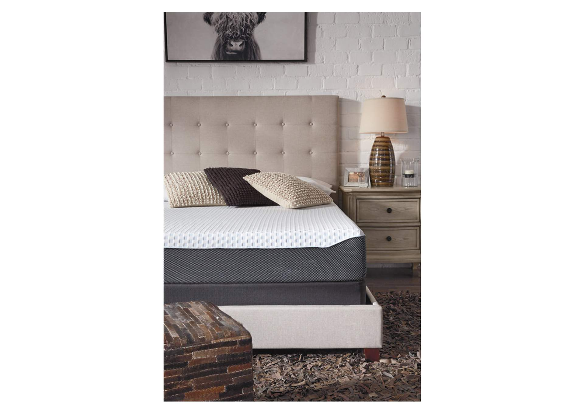 10 Inch Chime Elite Queen Memory Foam Mattress in a box,Sierra Sleep by Ashley