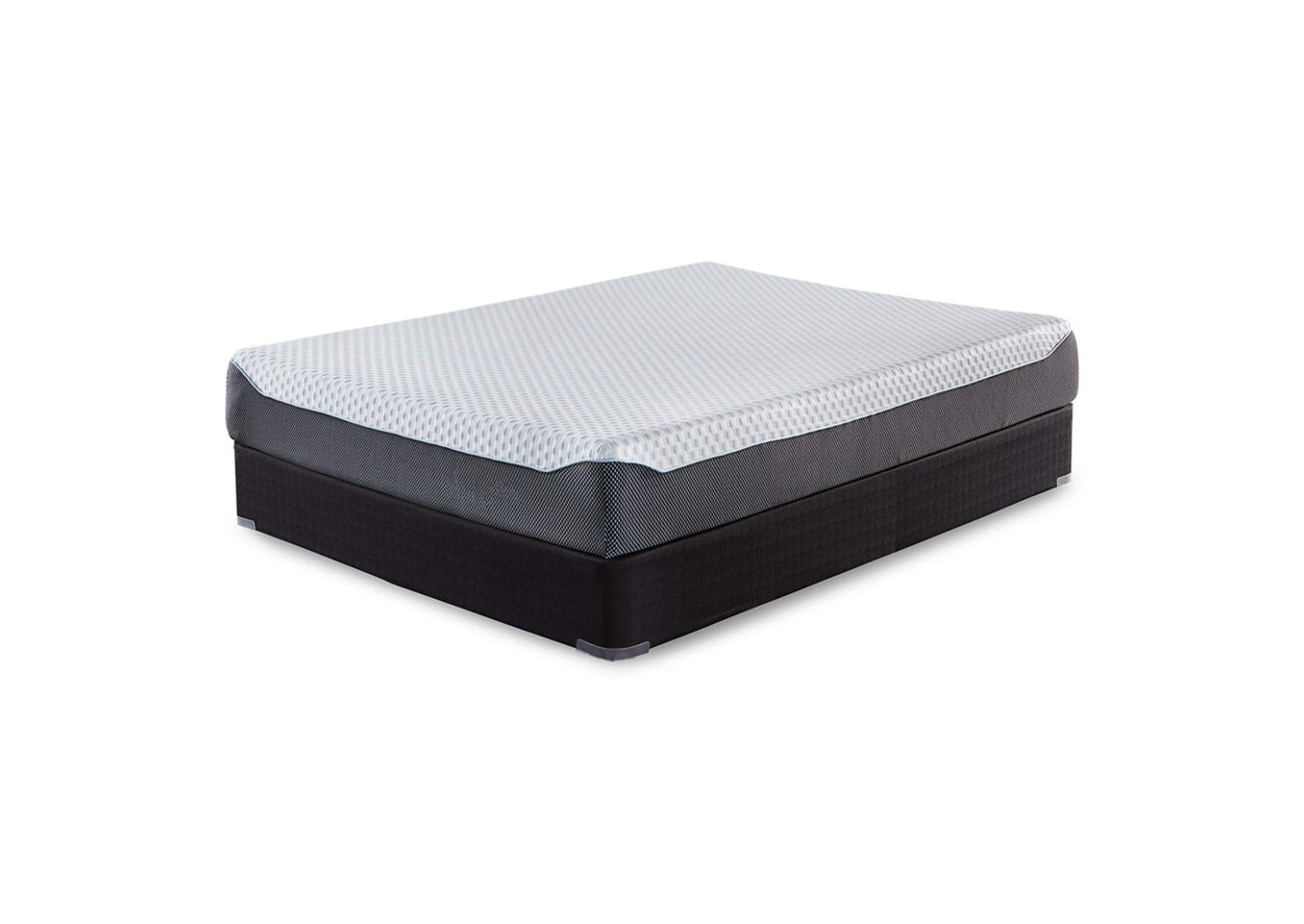 10 Inch Chime Elite King Memory Foam Mattress in a box w/Foundation,Sierra Sleep by Ashley