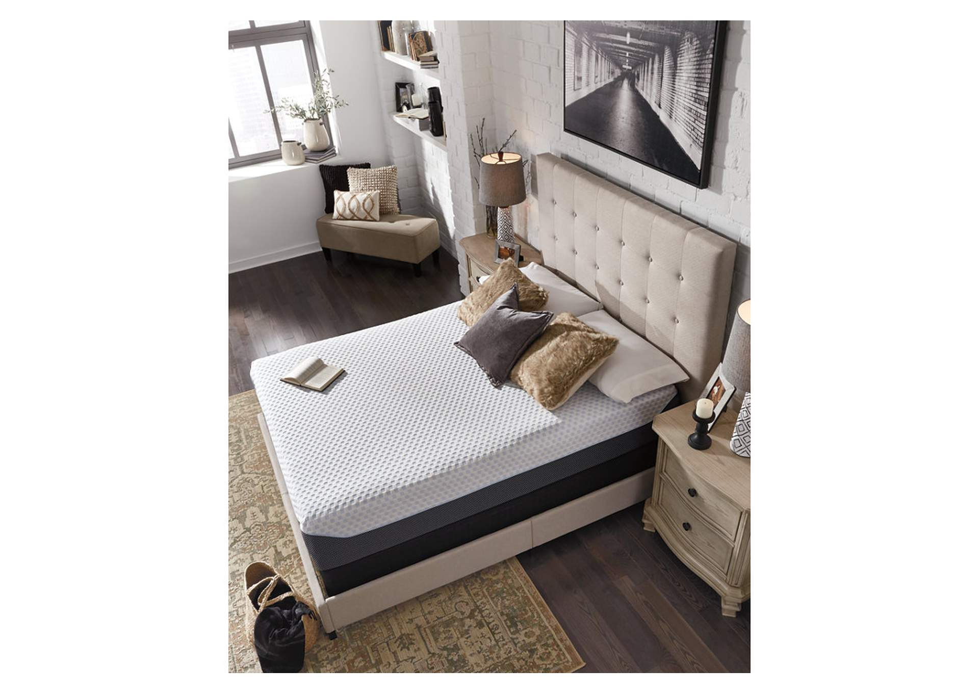 12 Inch Chime Elite Twin Memory Foam Mattress in a box,Sierra Sleep by Ashley