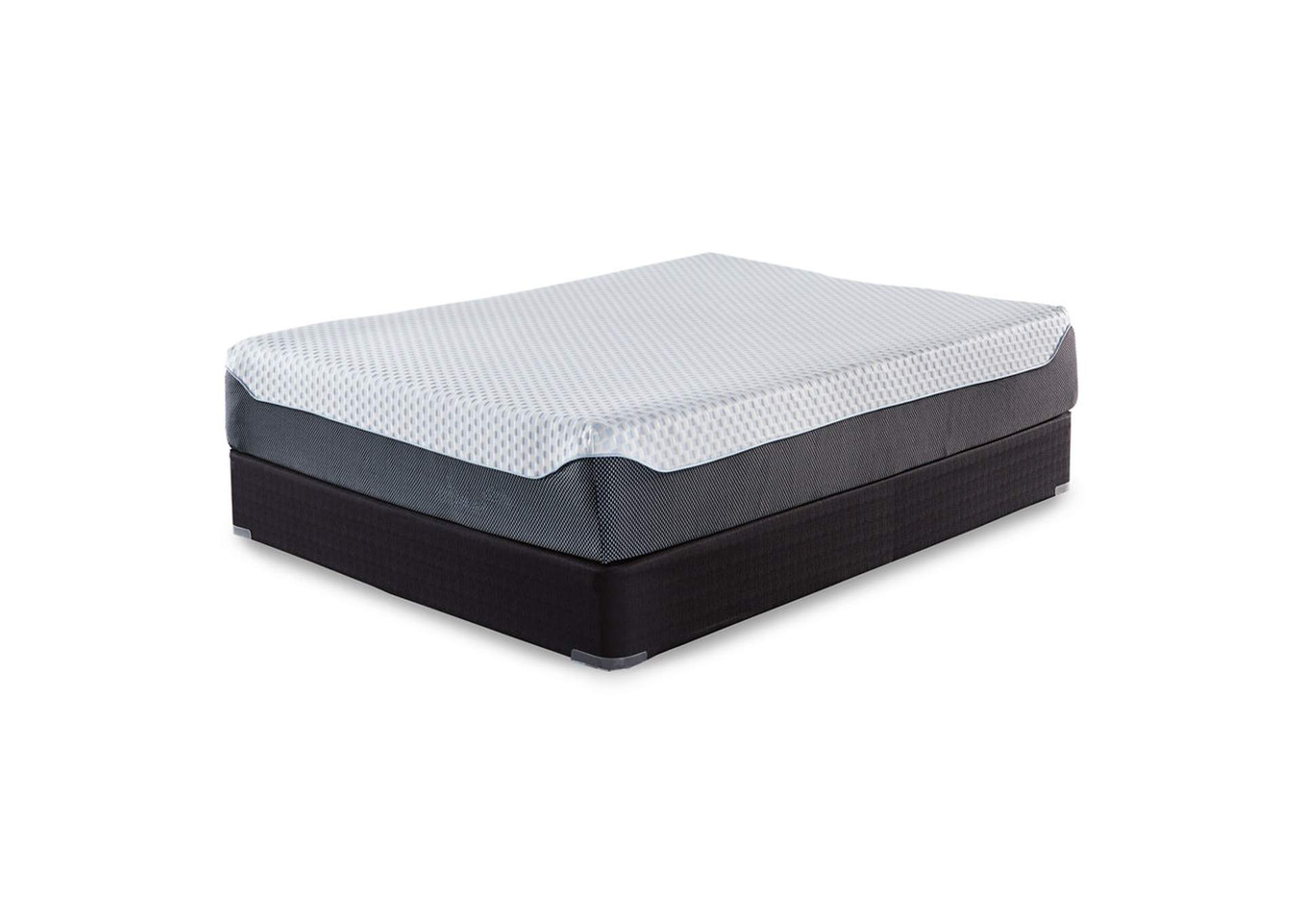 12 Inch Chime Elite King Memory Foam Mattress in a box w/Foundation,Sierra Sleep by Ashley