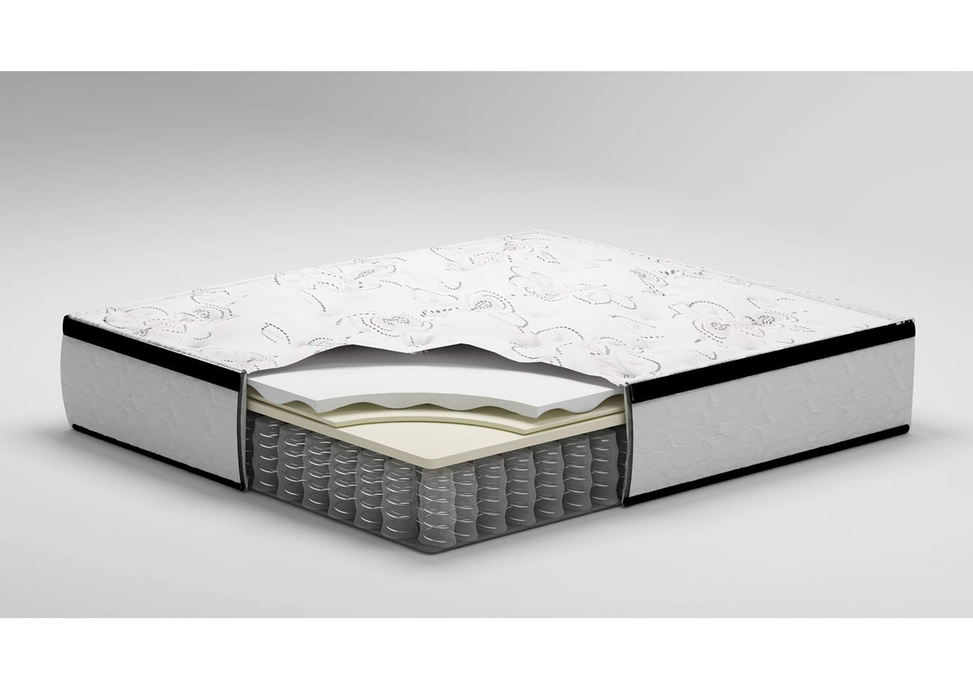 Chime 12 Inch Hybrid King Mattress in a Box,Sierra Sleep by Ashley