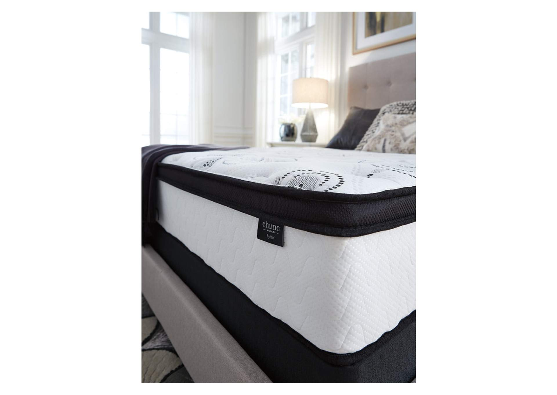 "Chime 12"" White Hybrid Queen Mattress,Direct To Consumer Express"