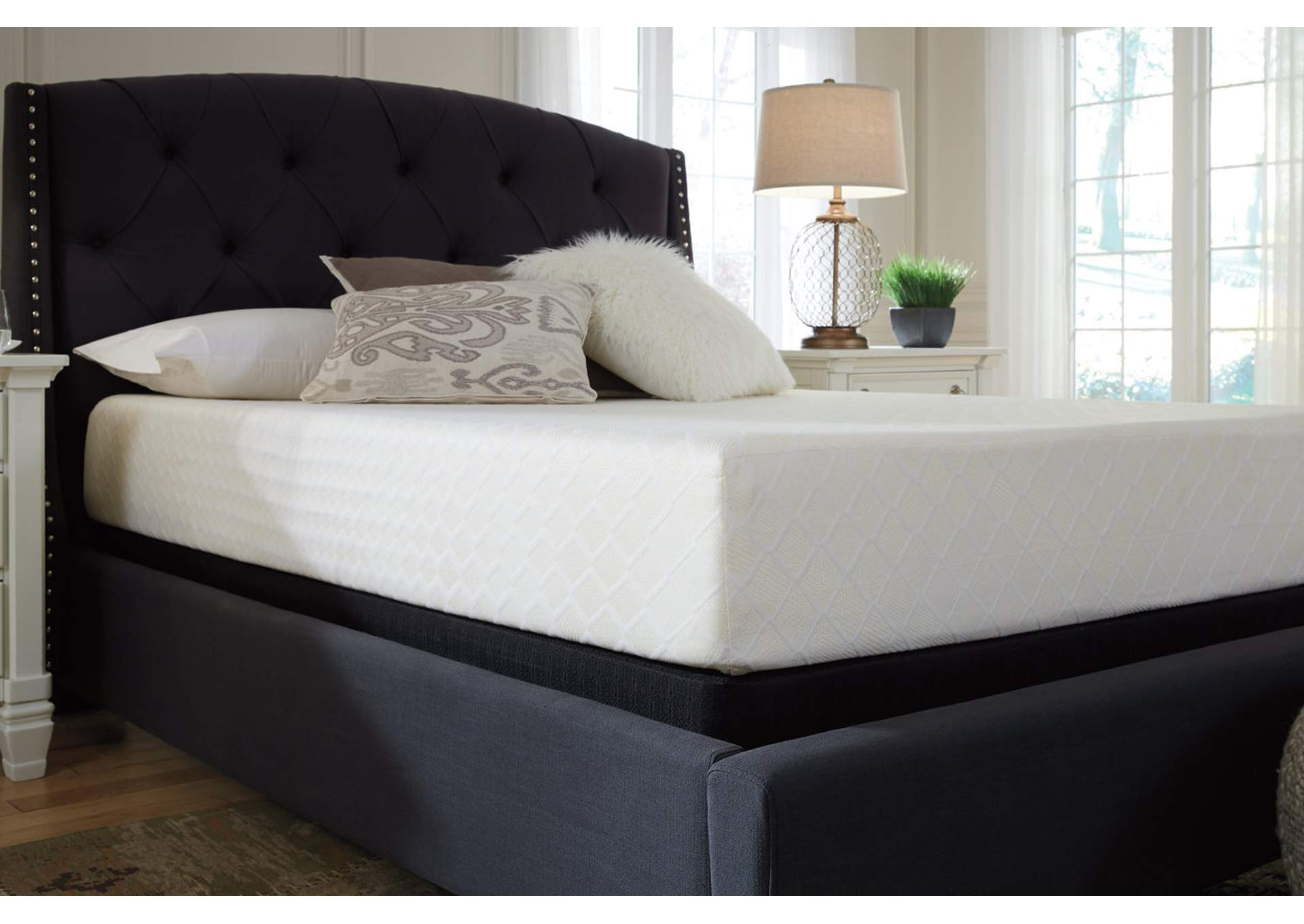 10 Inch Chime Memory Foam King Mattress in a Box,Sierra Sleep by Ashley