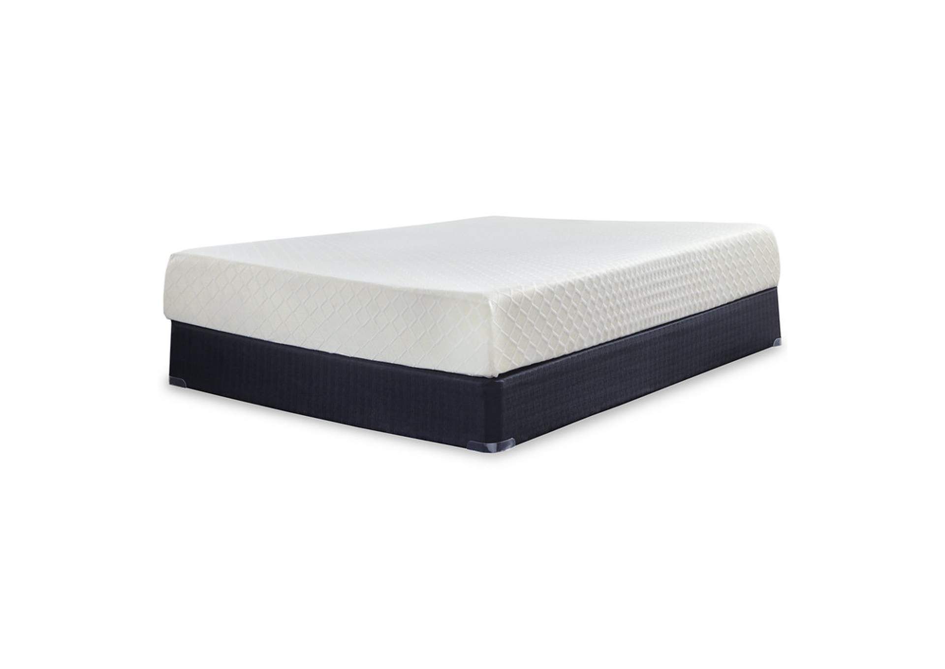 10 Inch Chime Memory Foam Queen Mattress in a Box w/Foundation,Sierra Sleep by Ashley