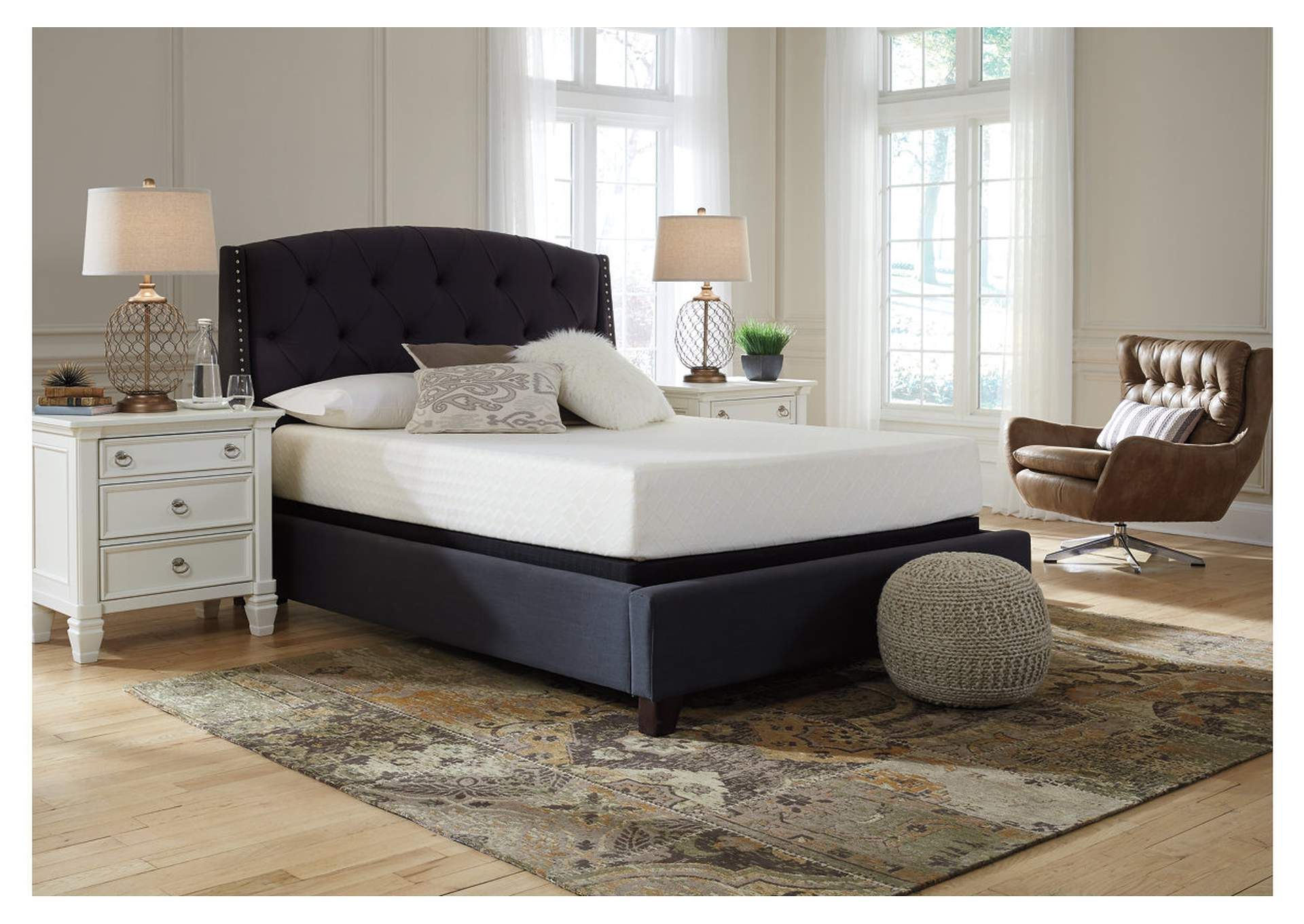 10 Inch Chime Memory Foam Full Mattress in a Box w/Foundation,Sierra Sleep by Ashley