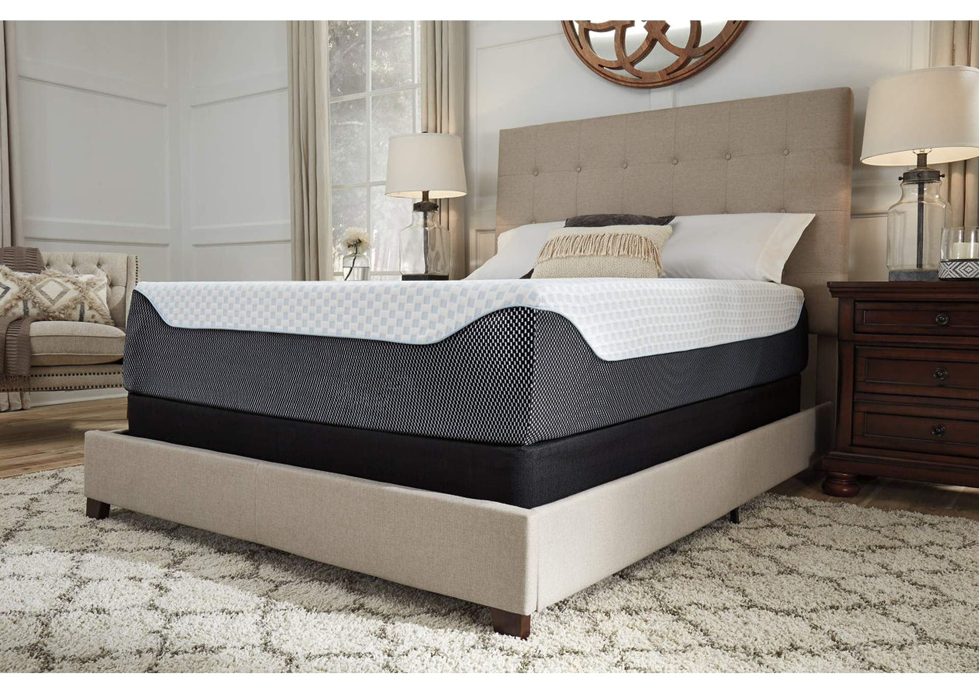14 Inch Chime Elite California King Memory Foam Mattress in a Box,Sierra Sleep by Ashley