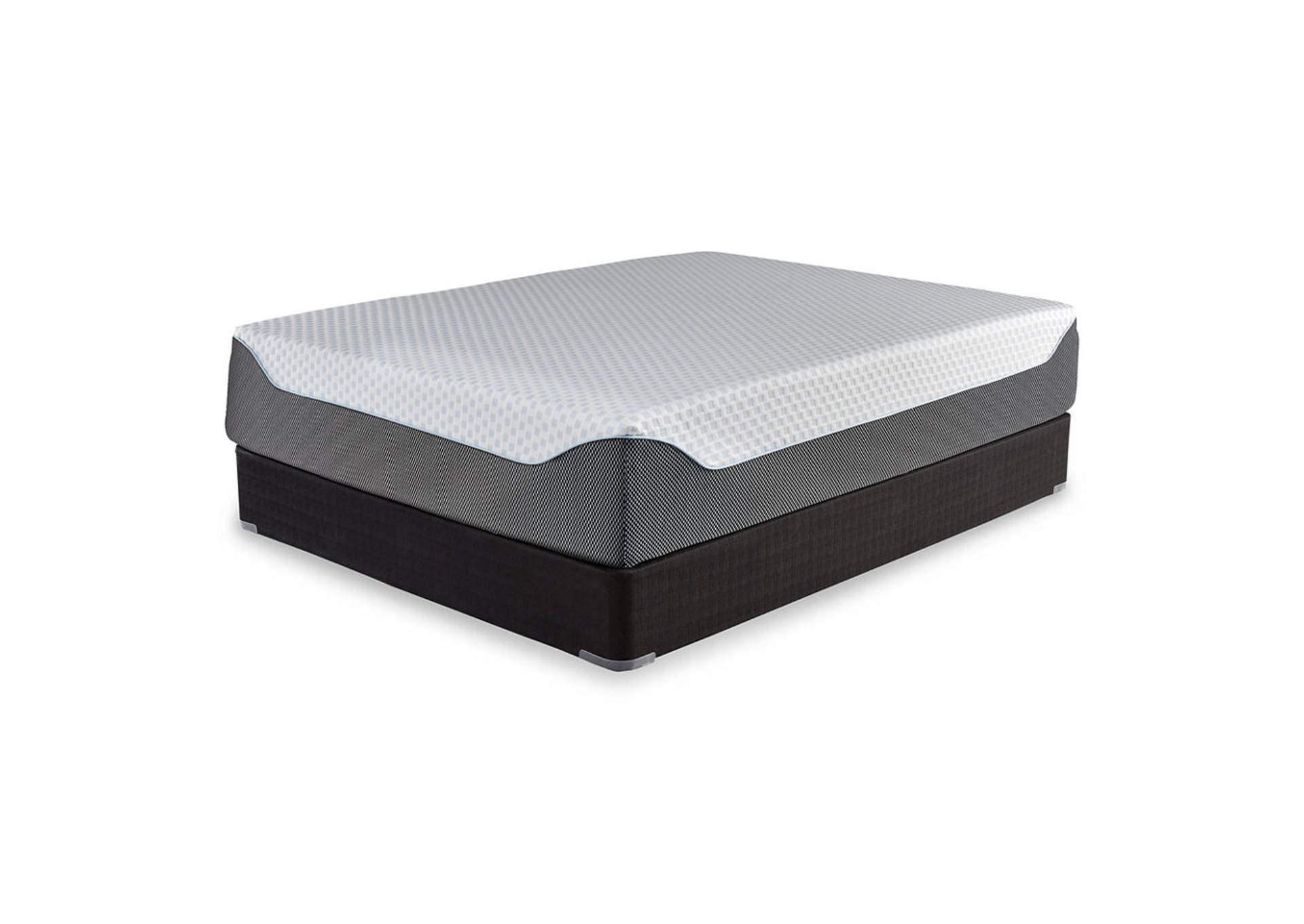 14 Inch Chime Elite Queen Memory Foam Mattress in a Box w/Foundation,Sierra Sleep by Ashley