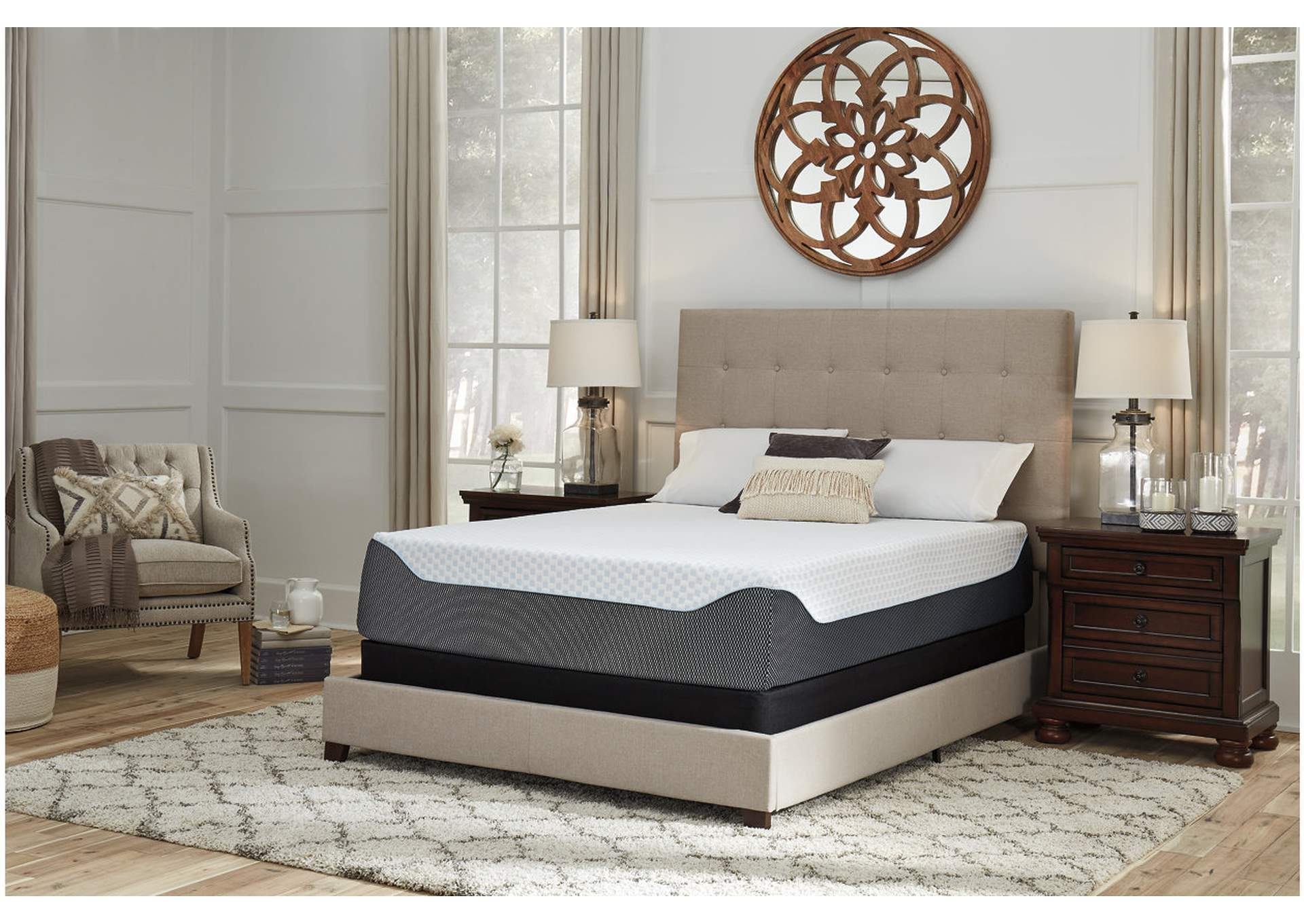 14 Inch Chime Elite King Memory Foam Mattress in a Box,Sierra Sleep by Ashley