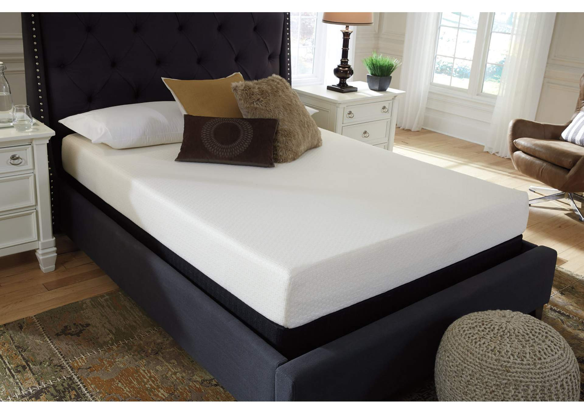 Chime 8 Inch Memory Foam King Mattress in a Box,Sierra Sleep by Ashley