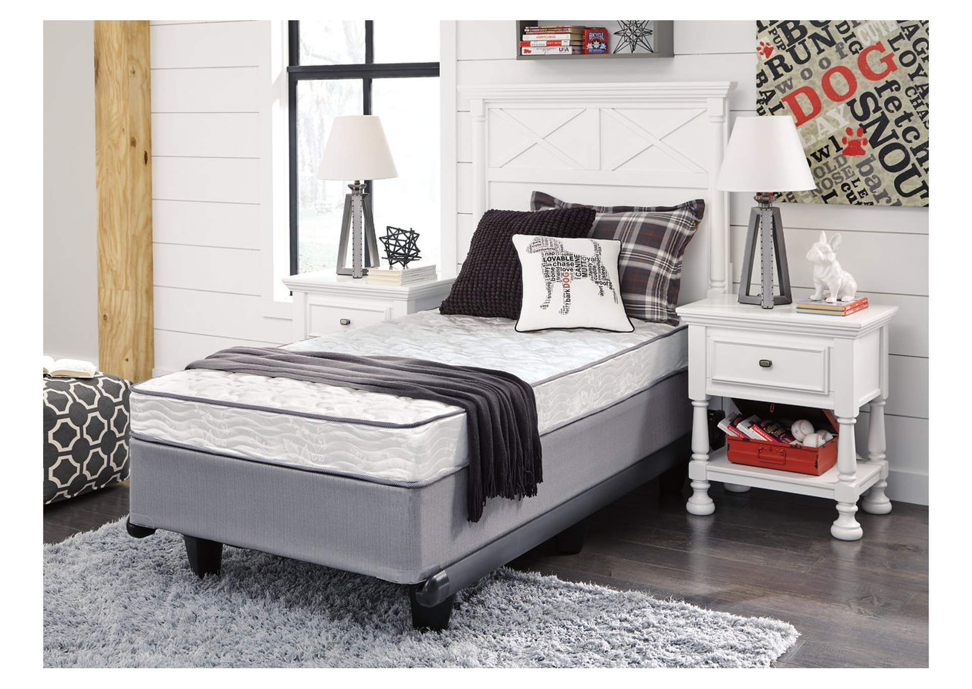 6 Inch Bonell Twin Mattress,Sierra Sleep by Ashley