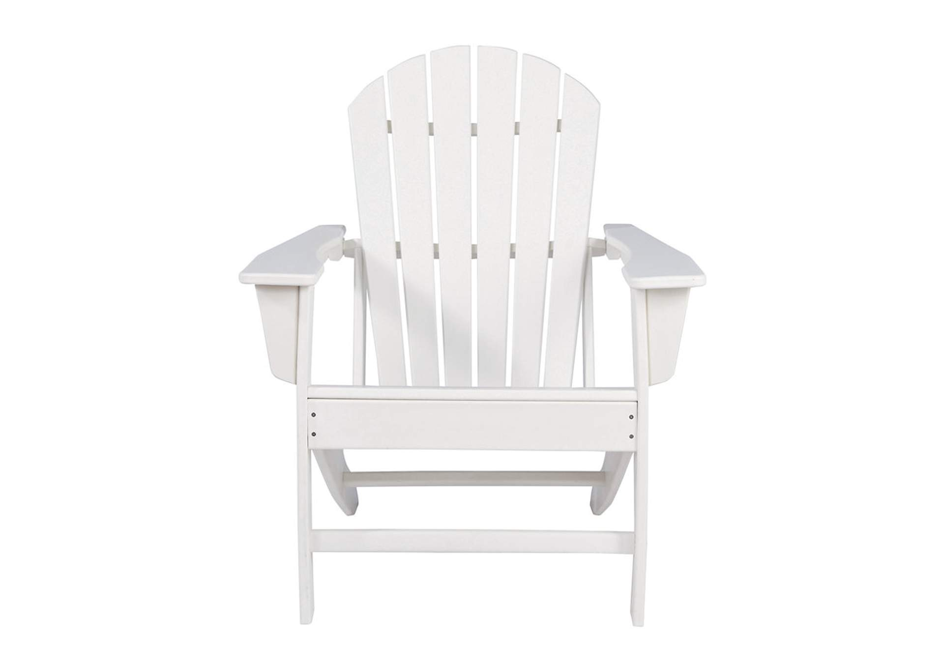 Sundown Treasure White Adirondack Chair,Outdoor By Ashley