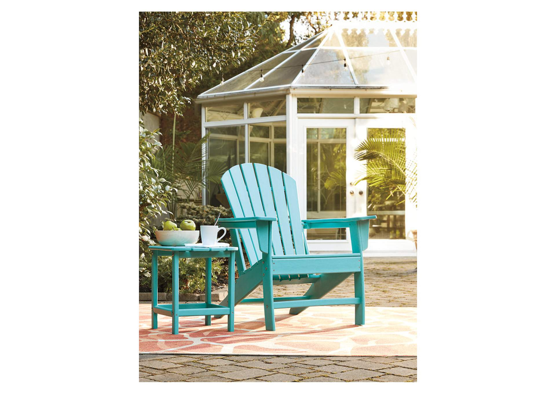 Sundown Treasure Blue Adirondack Chair,Outdoor By Ashley