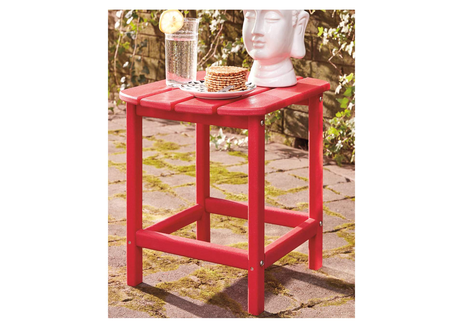 Sundown Treasure Red End Table,Outdoor By Ashley