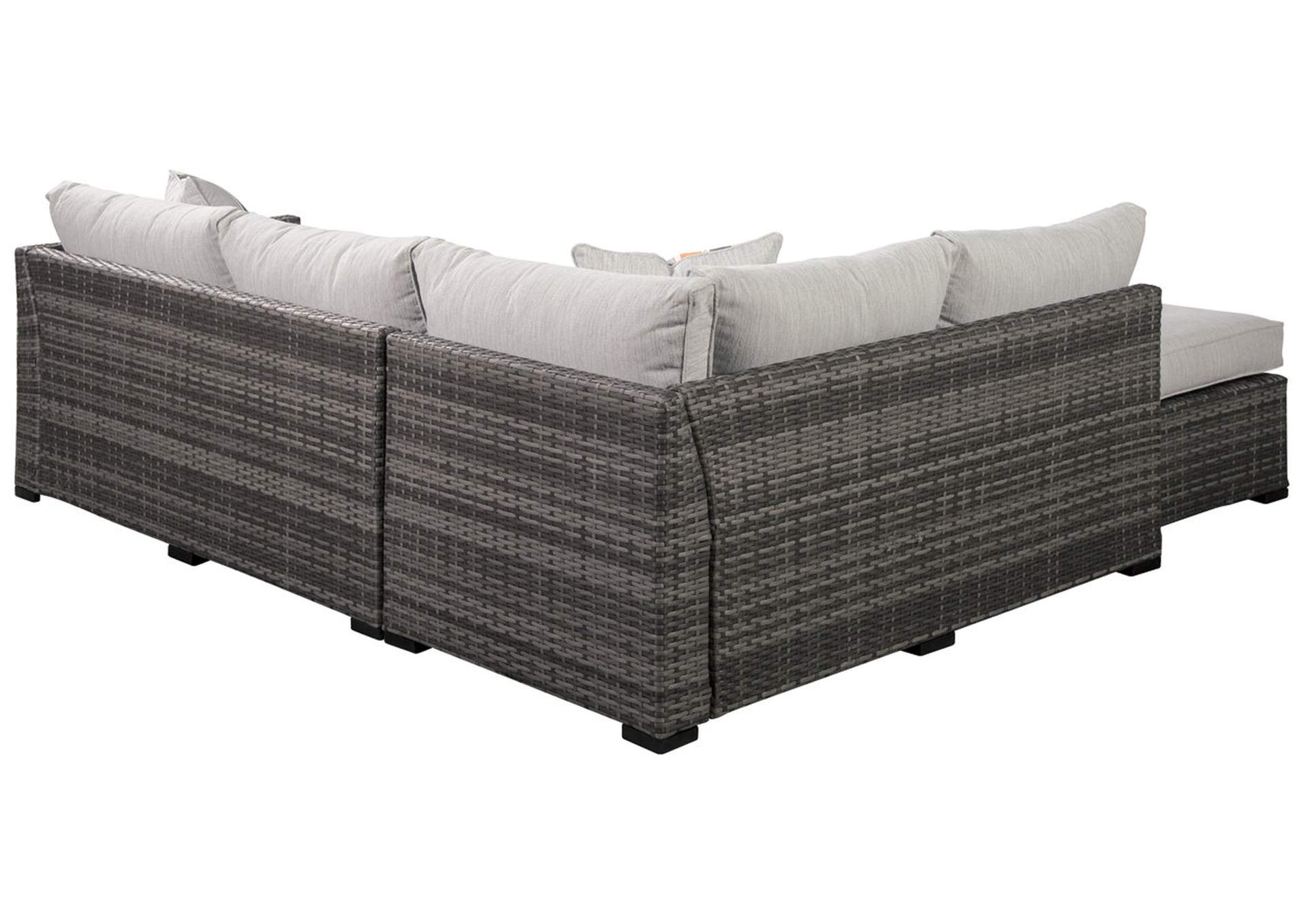 Cherry Point Gray 4-Piece Outdoor Sectional Set,Outdoor By Ashley