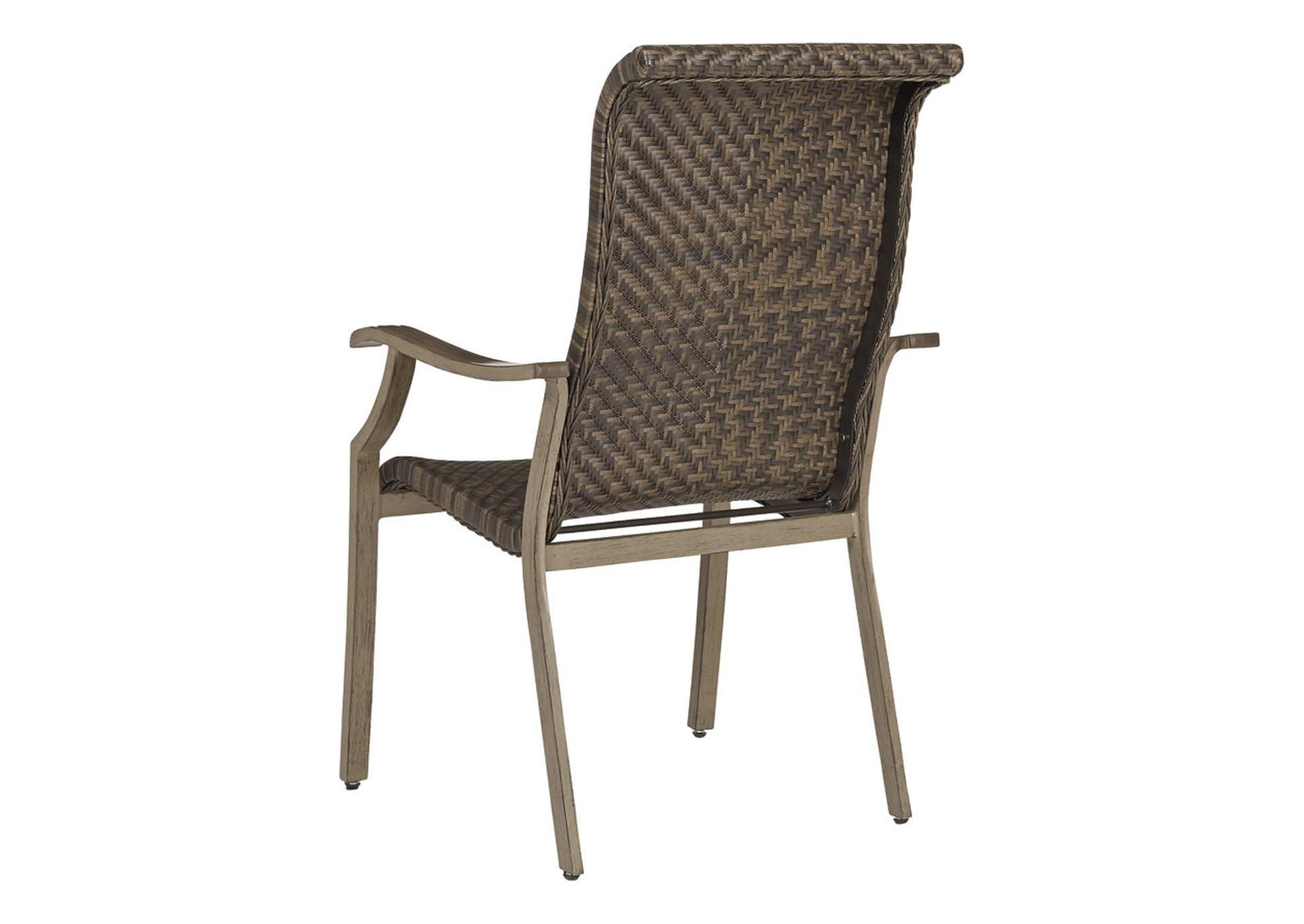 Windon Barn Brown Arm Chair (Set of 4),Outdoor By Ashley