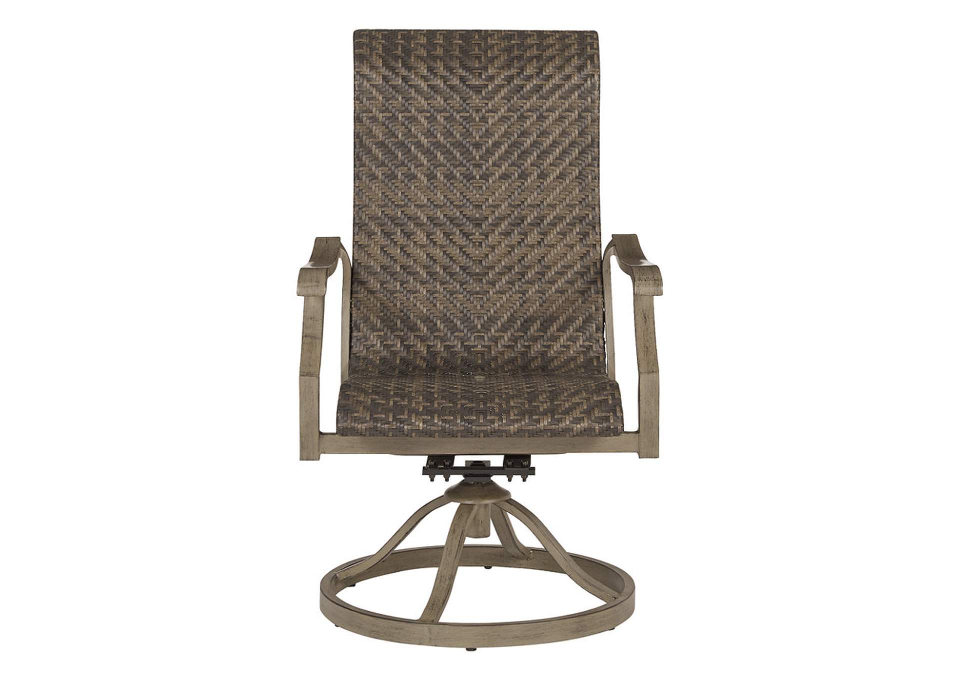 Windon Barn Brown Swivel Chair (Set of 2),Outdoor By Ashley
