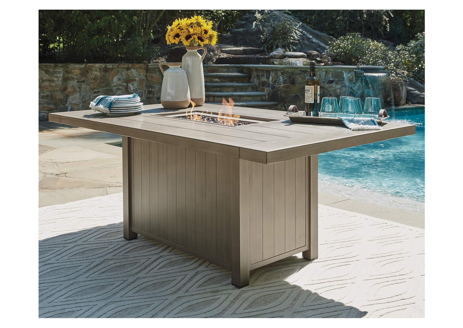 Windon Barn Fire Pit Table,Outdoor By Ashley