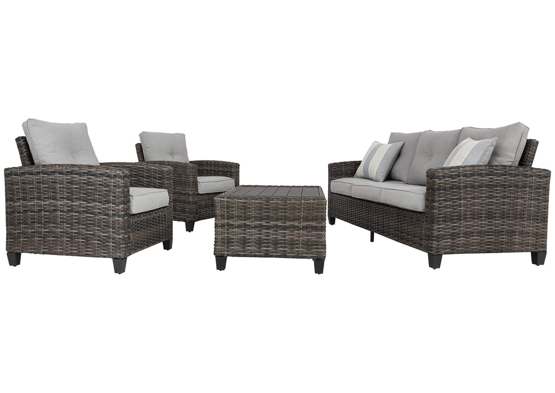 Cloverbrooke Gray 4-Piece Outdoor Conversation Set,Outdoor By Ashley