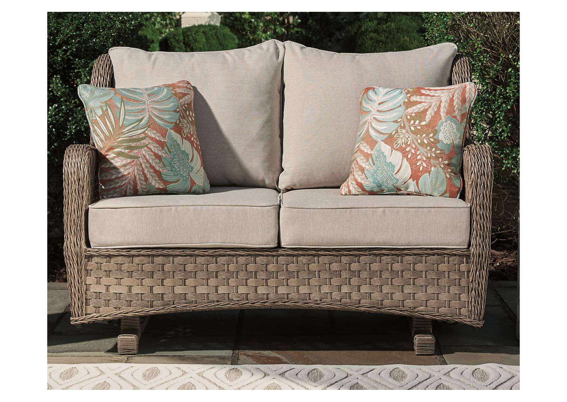 Clear Ridge Glider Loveseat with Cushion,Outdoor By Ashley