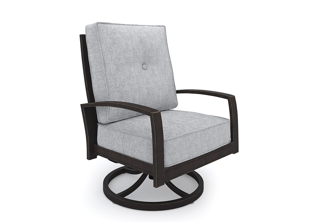 Castle Island Dark Brown Swivel Lounge Chair,Outdoor By Ashley