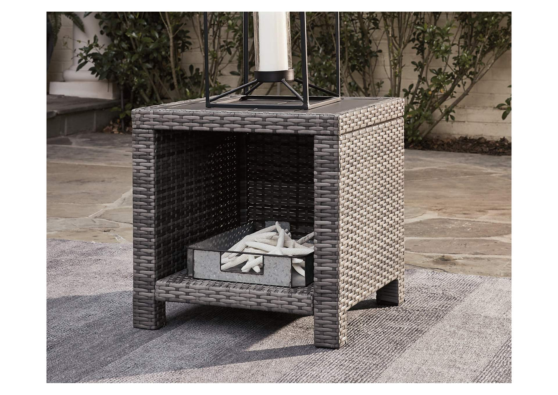 Salem Beach Gray End Table,Outdoor By Ashley