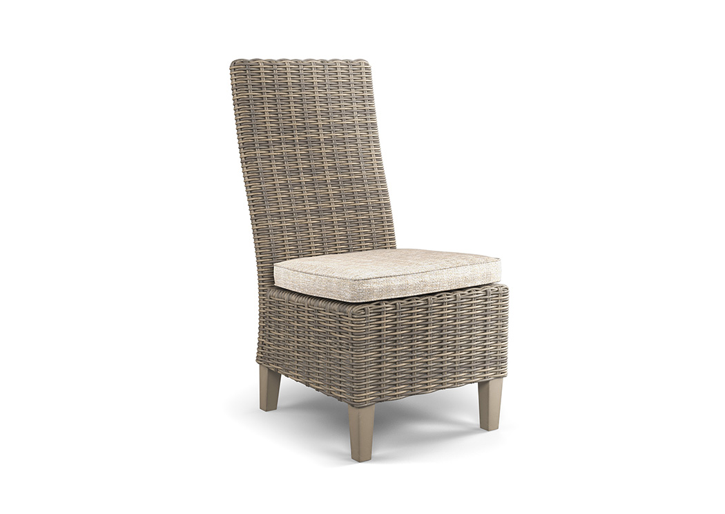 Beachcroft Beige Side Chair with Cushion (2/CN),Outdoor By Ashley