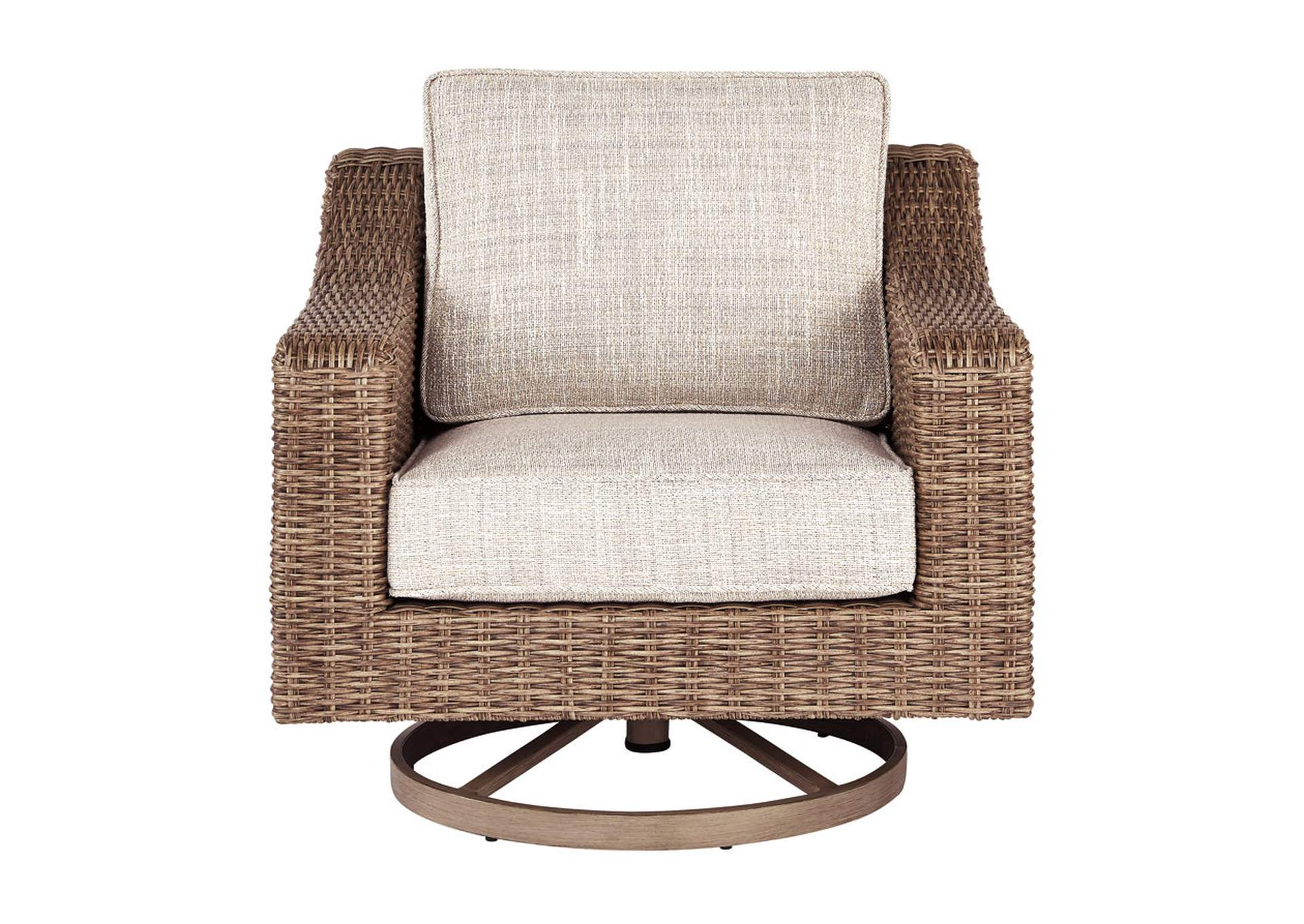 Beachcroft Beige Swivel Lounge Chair,Outdoor By Ashley