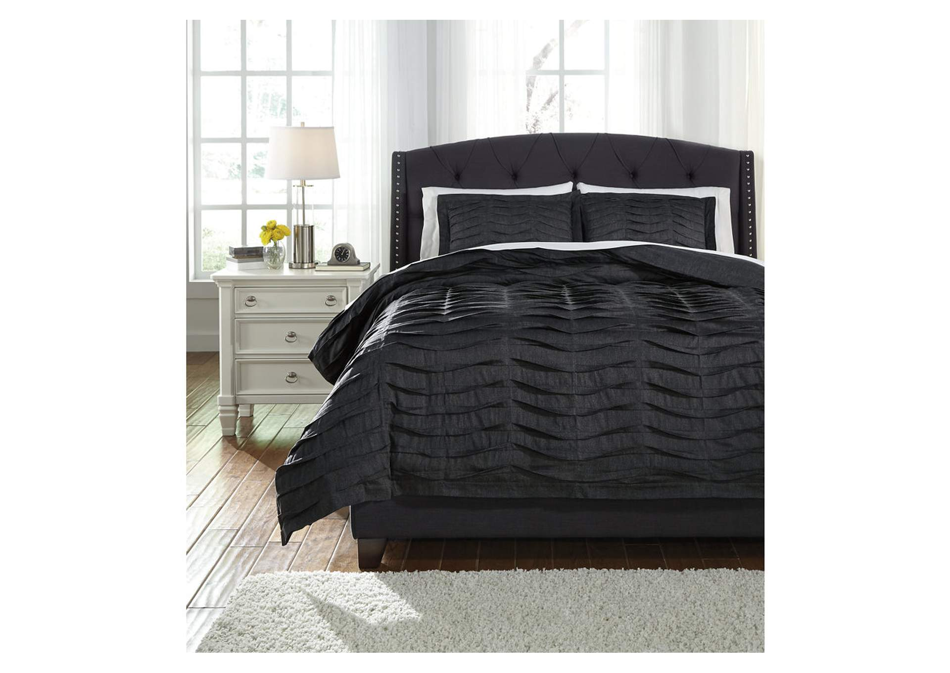 Voltos Charcoal Queen Duvet Cover Set,Direct To Consumer Express