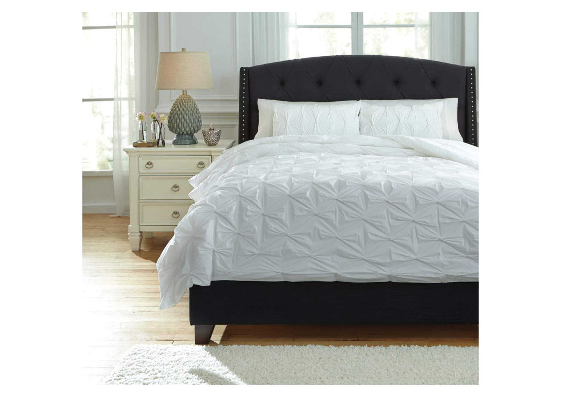 Rimy White King Comforter Set,Direct To Consumer Express
