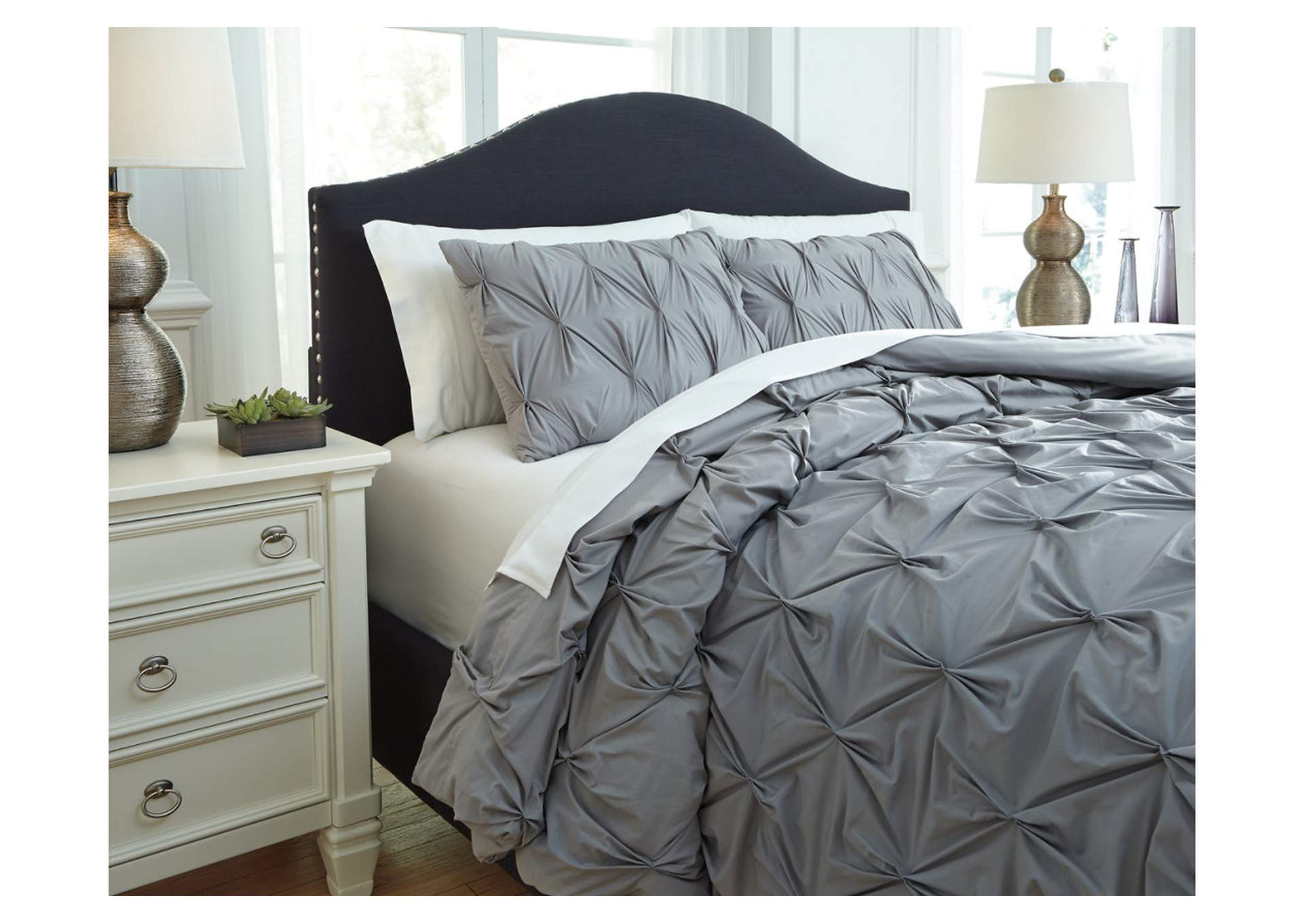 Rimy Gray Queen Comforter Set,Direct To Consumer Express