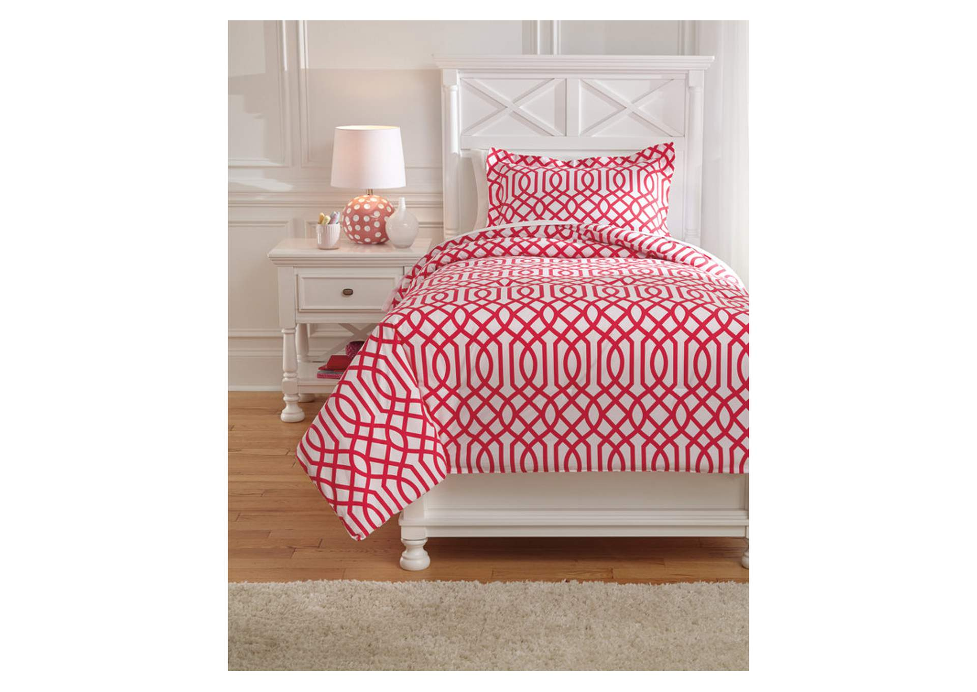 Loomis Fuchsia Twin Comforter Set,Direct To Consumer Express
